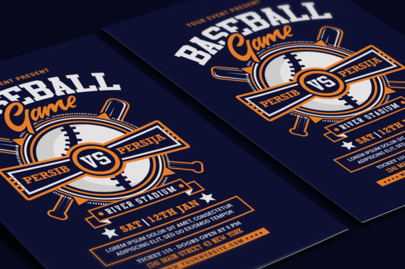 Baseball Game Flyer Graphic Print Templates By muhamadiqbalhidayat - Image 3