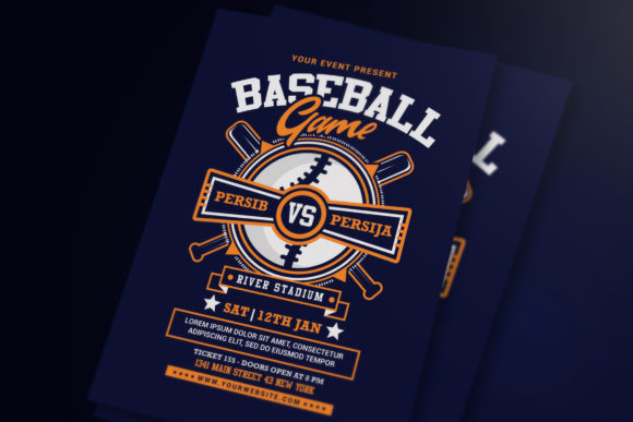 Baseball Game Flyer Graphic Print Templates By muhamadiqbalhidayat - Image 1