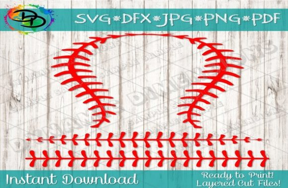 Print on Demand: Baseball Laces SVG, Softball Threads, S Graphic Crafts By dynamicdimensions - Image 1