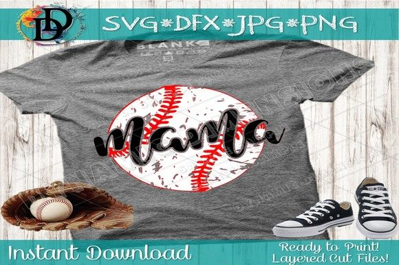 Download Free Baseball Mama Baseball Softbal Graphic By Dynamicdimensions for Cricut Explore, Silhouette and other cutting machines.