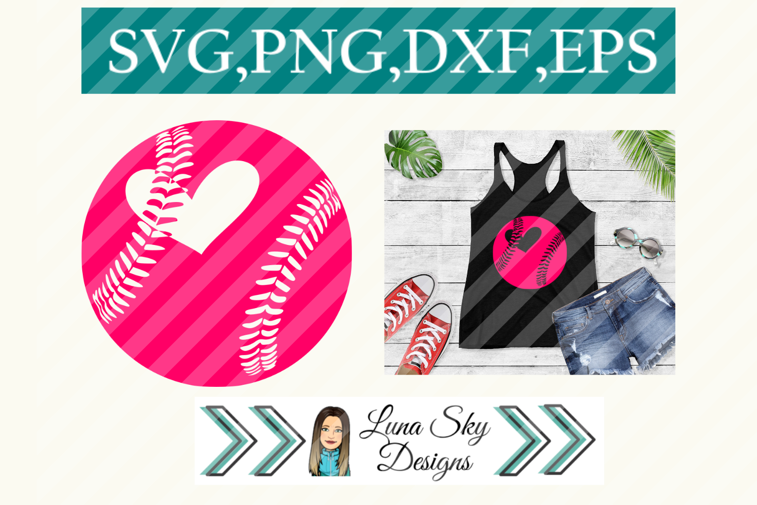 Download Free Baseball Softball Sports Graphic By Lunaskysvg Creative Fabrica for Cricut Explore, Silhouette and other cutting machines.