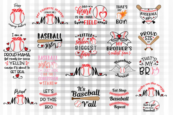 Download Free Baseball Bundle 1 Graphic By Illustrator Guru Creative Fabrica for Cricut Explore, Silhouette and other cutting machines.