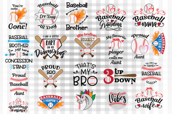 Baseball Bundle 2 Graphic Crafts By Illustrator Guru
