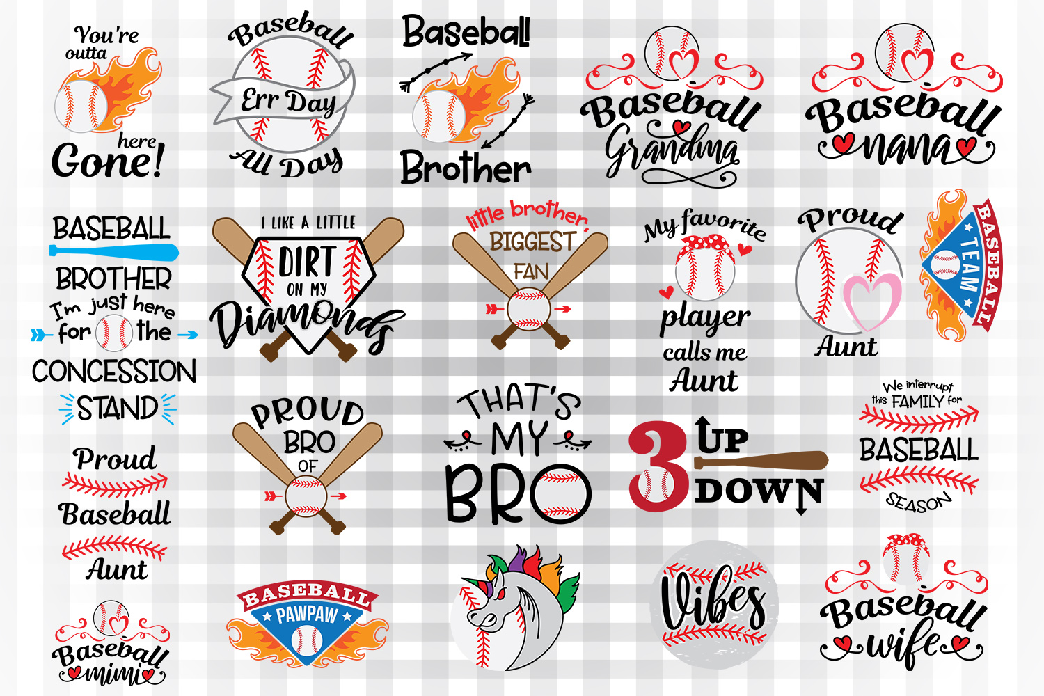 Download Free Baseball Bundle 2 Graphic By Illustrator Guru Creative Fabrica for Cricut Explore, Silhouette and other cutting machines.