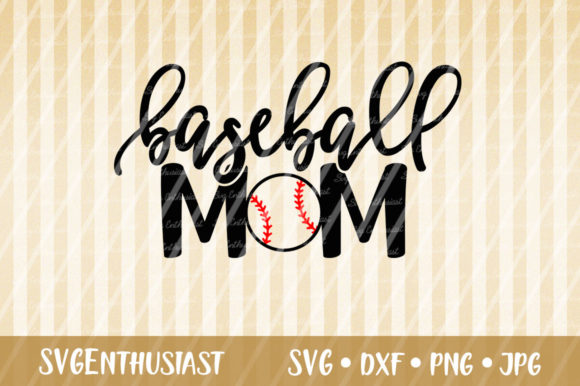 Download Free Baseball Mom Graphic By Svgenthusiast Creative Fabrica for Cricut Explore, Silhouette and other cutting machines.