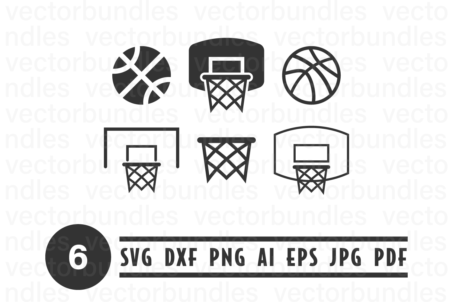 Basketball Ring Clip Art Svg Graphic By Vectorbundles Creative