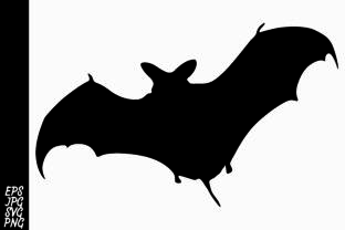 Download Free Bat Silhouette Graphic By Arief Sapta Adjie Ii Creative Fabrica for Cricut Explore, Silhouette and other cutting machines.
