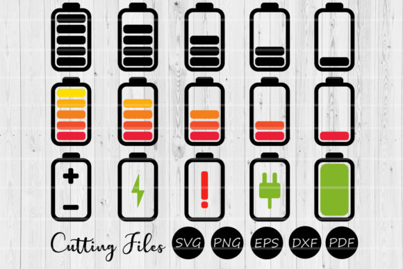 Download Free Battery Clip Art Bundle Svg Graphic By Hd Art Workshop for Cricut Explore, Silhouette and other cutting machines.
