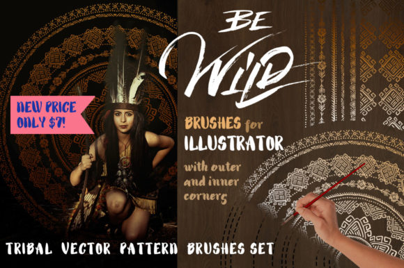 Print on Demand: Be Wild! Tribal Brushes for Illustrator Graphic Brushes By Iradvilyuk