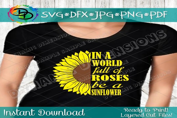 Be A Sunflower Svg Sunflower Monogram Graphic By Dynamicdimensions Creative Fabrica