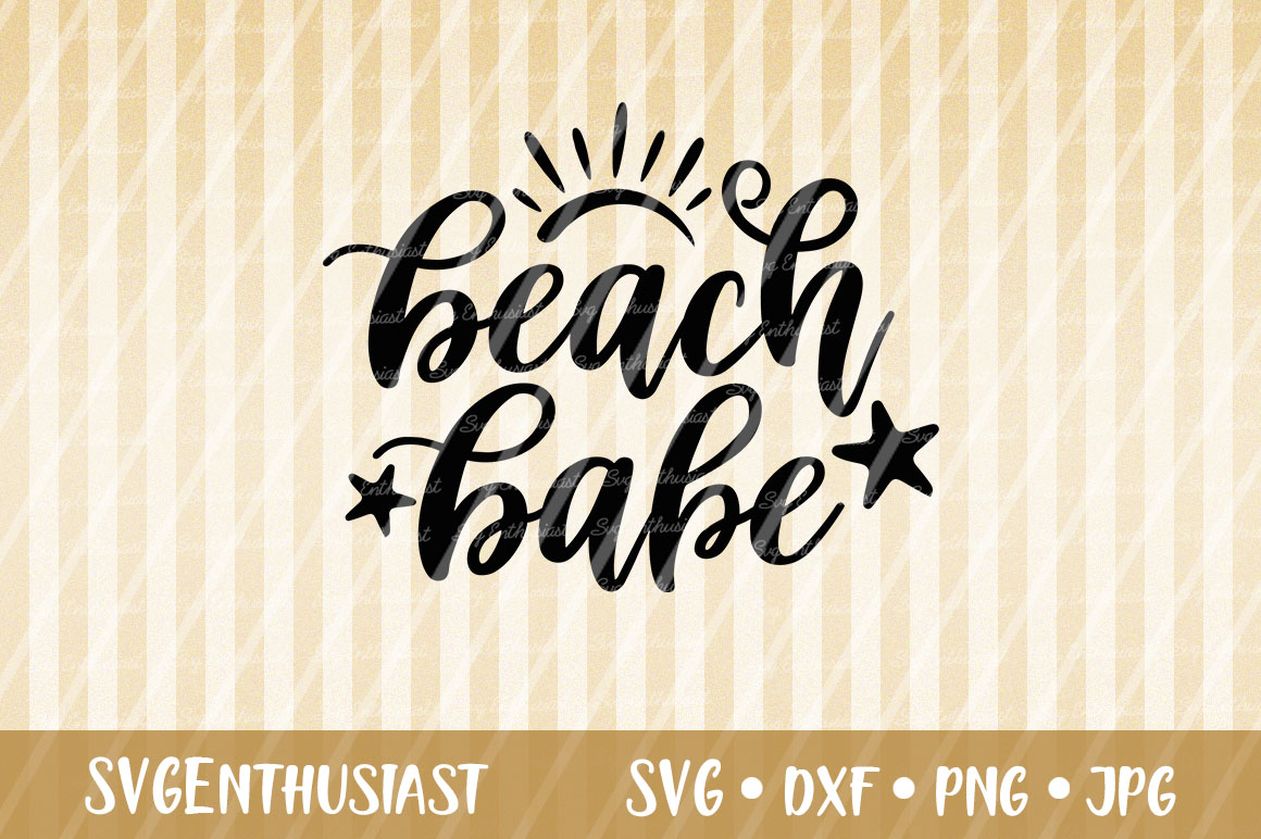 Download Free Beach Babe Svg Cut File Graphic By Svgenthusiast Creative Fabrica for Cricut Explore, Silhouette and other cutting machines.