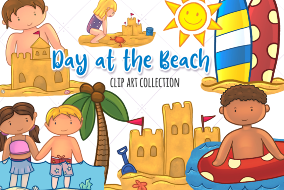 Print on Demand: Beach Day Graphic Illustrations By Keepinitkawaiidesign