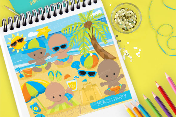 Print on Demand: Beach Party Graphic Illustrations By Prettygrafik