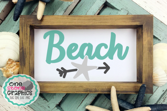 Beach Svg,beach Sign Svg Graphic Crafts By OneStoneGraphics