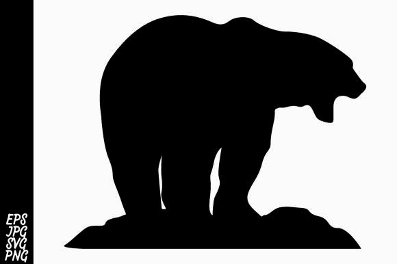 Download Free Bear Silhouette Graphic By Arief Sapta Adjie Creative Fabrica for Cricut Explore, Silhouette and other cutting machines.