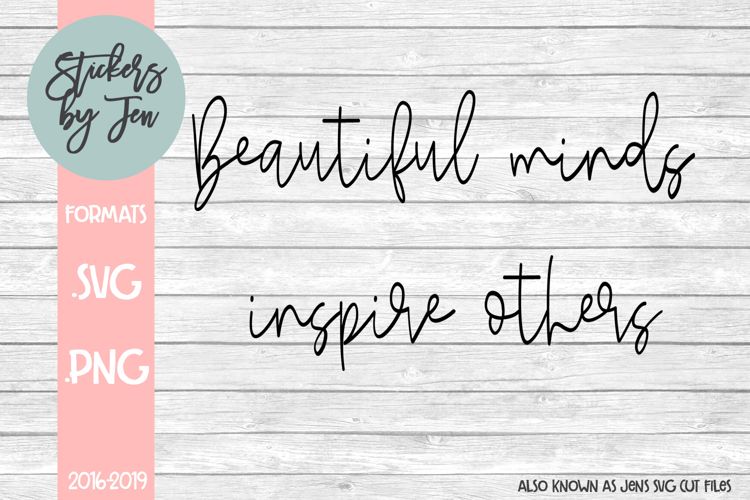 Download Free Beautiful Minds Inspire Others Svg Graphic By Jens Svg Cut Files for Cricut Explore, Silhouette and other cutting machines.