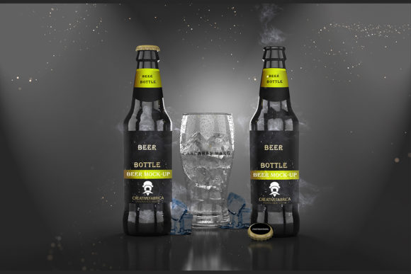 Download Free Beer Bottle Psd Mockup Grafico Por Pakpahanmarg Creative Fabrica for Cricut Explore, Silhouette and other cutting machines.