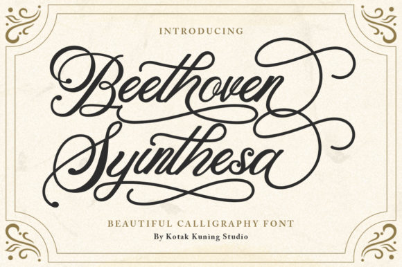 Print on Demand: Beethoven Syinthesa Script & Handwritten Font By Kotak Kuning Studio - Image 1