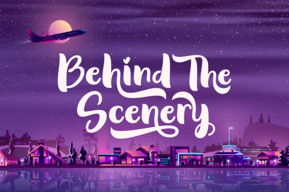 Print on Demand: Behind the Scenery Script & Handwritten Font By Situjuh