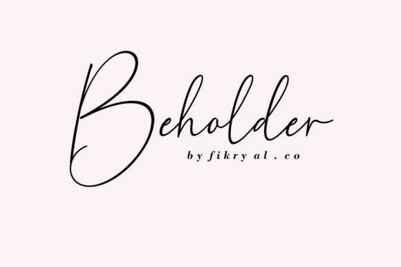 Print on Demand: Beholder Script & Handwritten Font By mfikryalif