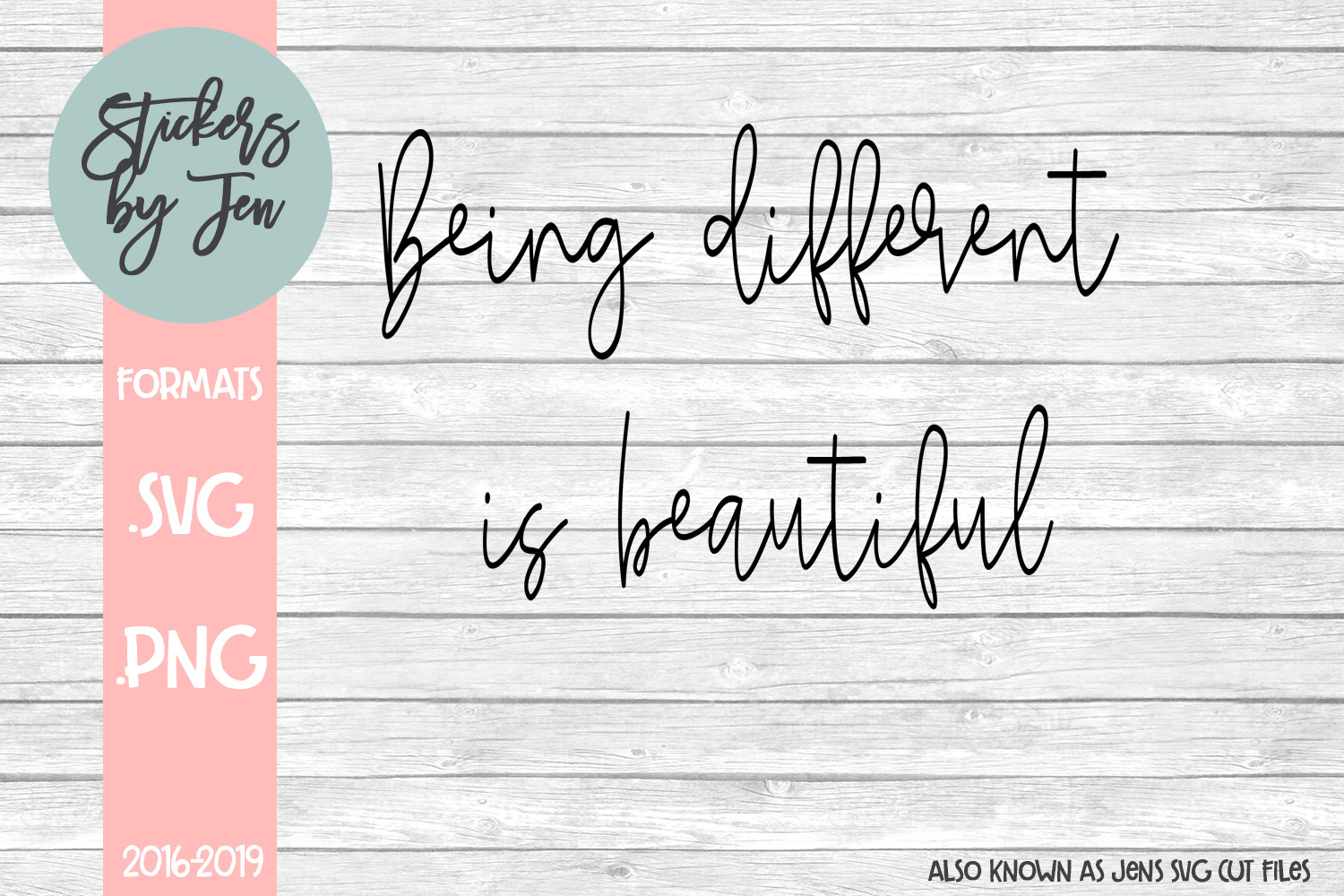 Download Free Being Different Is Beautiful Svg Graphic By Stickers By Jennifer for Cricut Explore, Silhouette and other cutting machines.