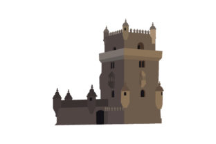 Belem Tower Craft Design By Creative Fabrica Crafts