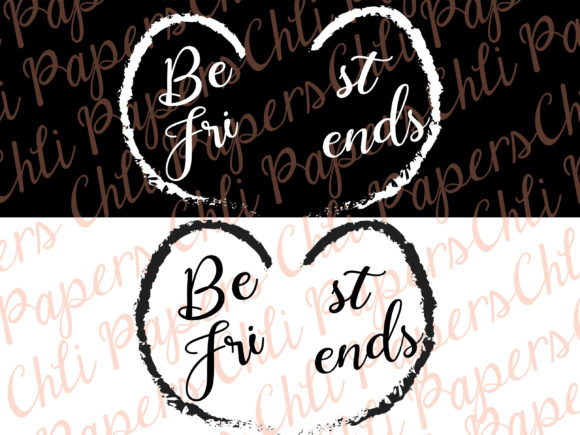 Best Friends Clipart,Custom Besties Graphic Crafts By ChiliPapers - Image 6