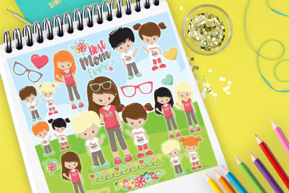Print on Demand: Best Mom Ever Graphic Illustrations By Prettygrafik
