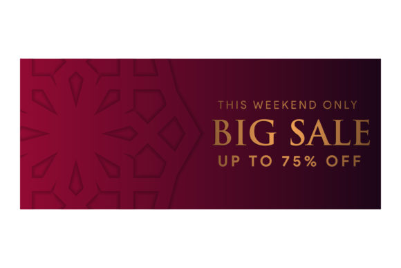 Print on Demand: Big Sale Pattern Gradient Dark Red Gold Graphic UX and UI Kits By noory.shopper - Image 1