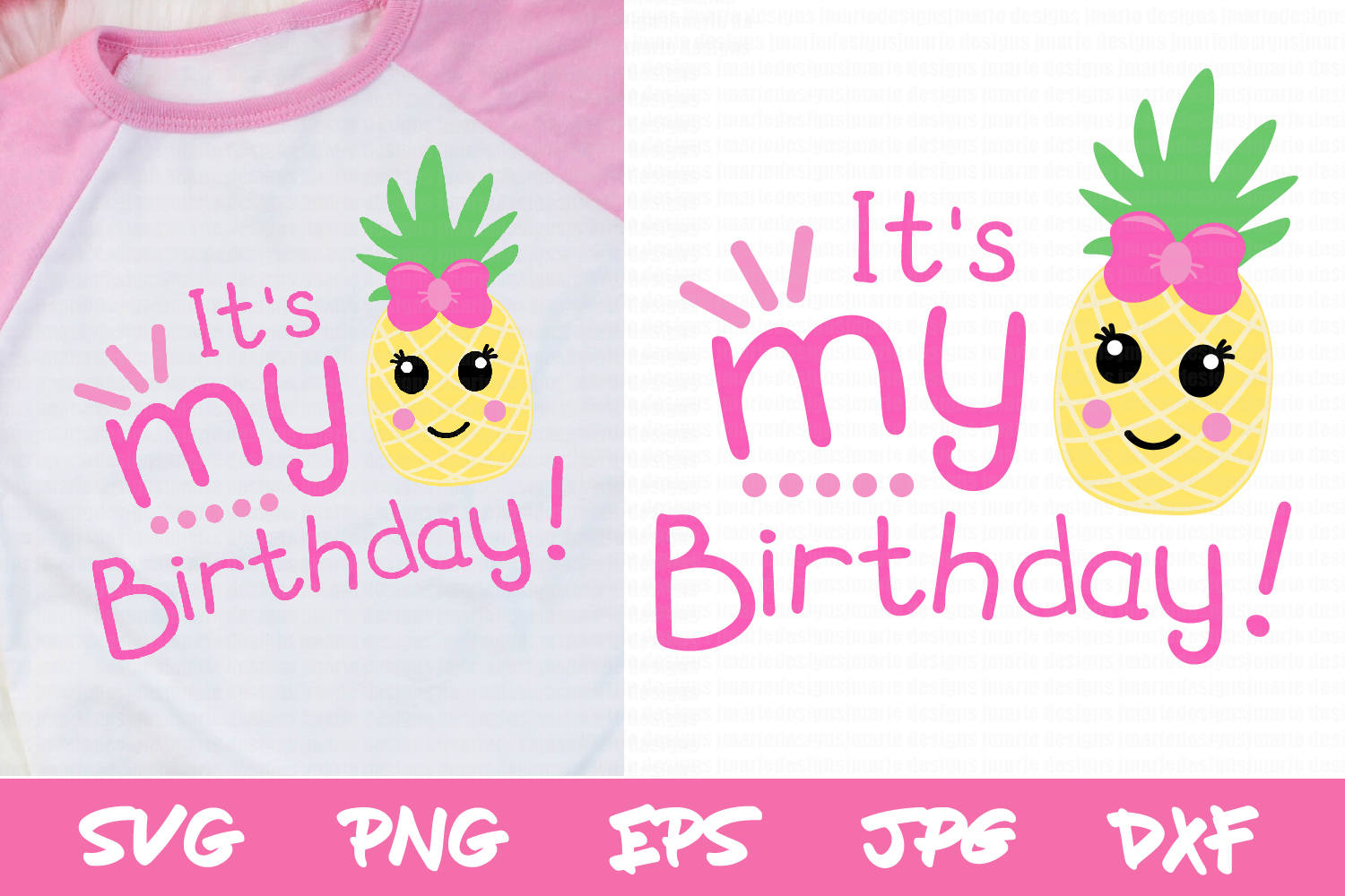 Download Free Birthday Pineapple Graphic By Thejaemarie Creative Fabrica for Cricut Explore, Silhouette and other cutting machines.