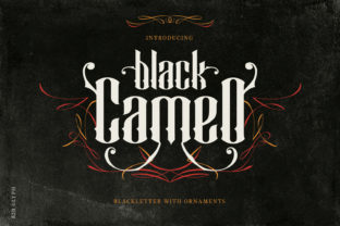 Black Cameo Font By creativemedialab