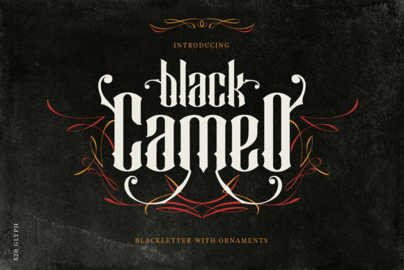 Black Cameo Blackletter Font By creativemedialab