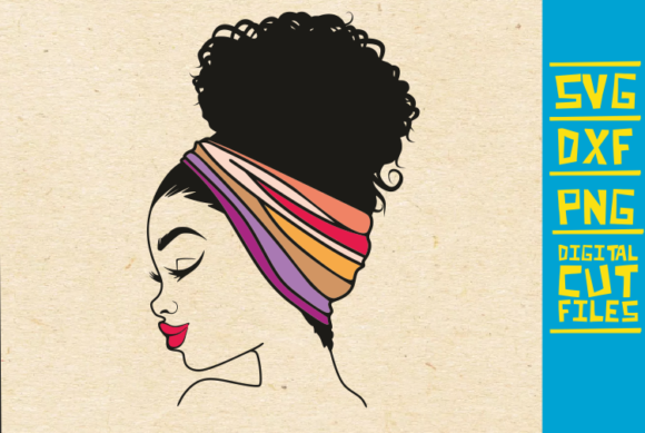 Afro Woman Headband Graphic Crafts By svgyeahyouknowme