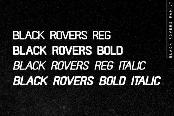 Print on Demand: Black Rovers Family Sans Serif Font By pandanwangi - Image 2