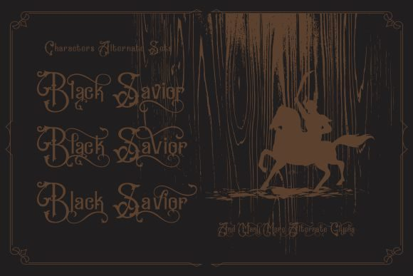 Print on Demand: Black Savior Display Font By victoriant99 - Image 2