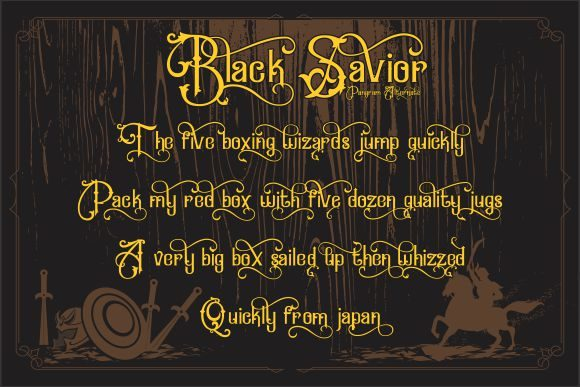 Print on Demand: Black Savior Display Font By victoriant99 - Image 3
