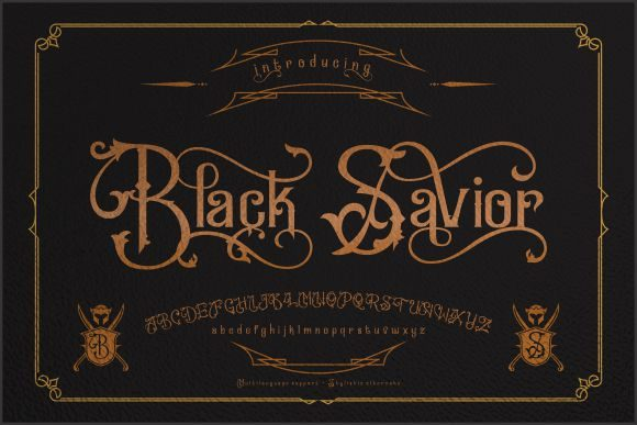 Print on Demand: Black Savior Display Font By victoriant99