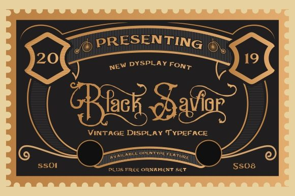 Print on Demand: Black Savior Display Font By victoriant99 - Image 10