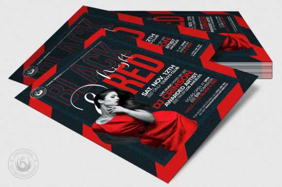Black and Red Flyer Template V5 Graphic Print Templates By ThatsDesignStore - Image 4