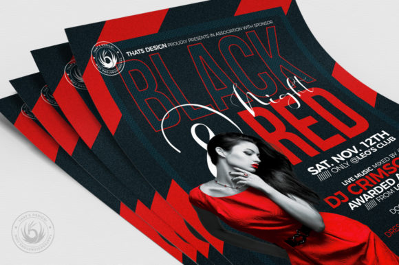 Black and Red Flyer Template V5 Graphic Print Templates By ThatsDesignStore - Image 5