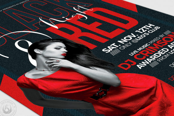 Black and Red Flyer Template V5 Graphic Print Templates By ThatsDesignStore - Image 6