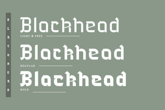Print on Demand: Blackhead Blackletter Font By Headfonts - Image 2