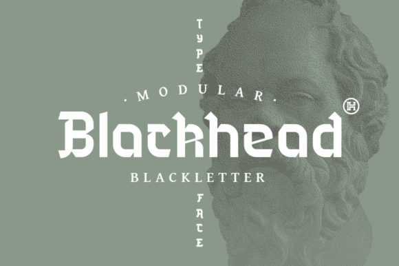 Print on Demand: Blackhead Blackletter Font By Headfonts - Image 1
