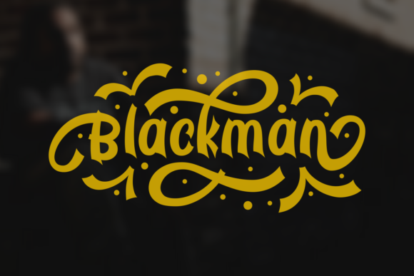 Print on Demand: Blackman Display Font By Dani (7NTypes)