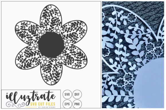Print on Demand: Blank Monogram Flower - Delicate Floral Graphic Crafts By illuztrate