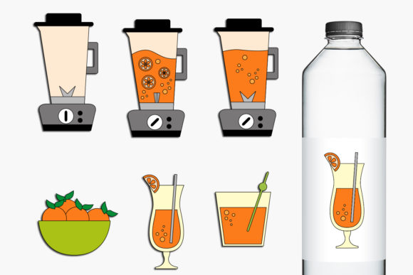 Blender And Orange Juice Graphic By Revidevi Creative Fabrica