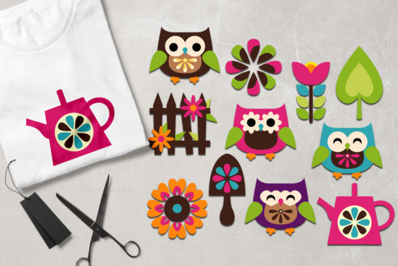 Print on Demand: Owl Spring Garden Graphic Illustrations By Revidevi - Image 1