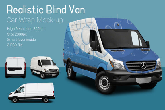 Blind Van Car Mock-Up Graphic By gumacreative Image 2