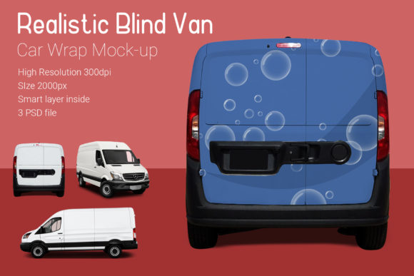 Blind Van Car Mock-Up Graphic By gumacreative Image 3