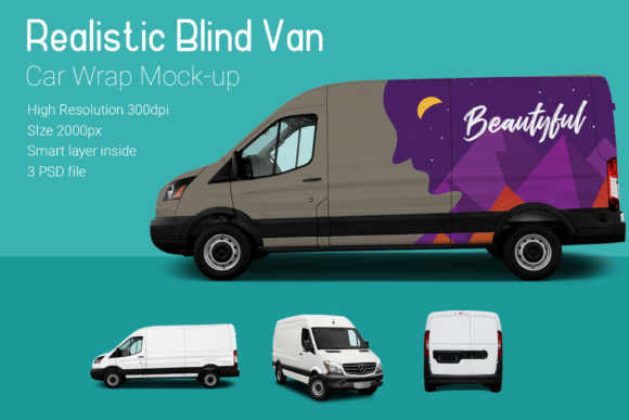 Blind Van Car Mock-Up Graphic By gumacreative